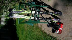kids skiis and boots