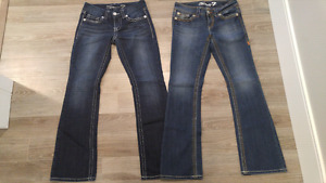 2 pairs of Seven jeans size 26 and 27. 2 for $10