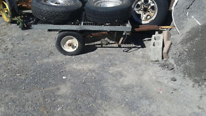 dumping flatbed  trailer for behind lawnmower/atv