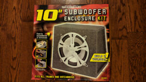 "10"" Scosche Subwoofer Enclosure Kit"