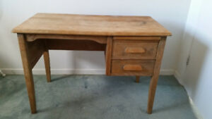 Antique Wooden Desk - For Youth or as a low typing desk
