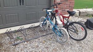Bike  racks for lawn garage or app