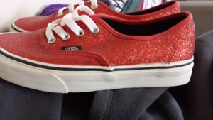 RED OFF THE WALL VANS NWOT