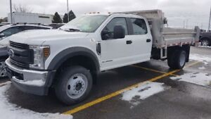 NEW 2019 Ford F550 Crew Cab 4x4 with Aluminum Dump body