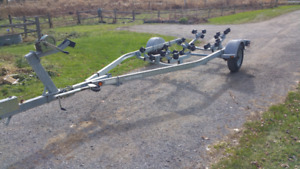 16 to 19 foot Galv roller boat trailer