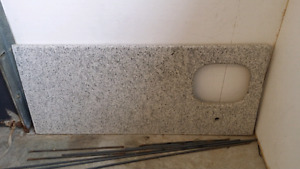 "Granite counter.  59""x26"""