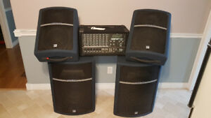 Complete PA system for sale.