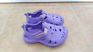 Purple Skechers Sandals with Velcro, Baby Girl, Size 6