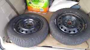 Set of 205/55/R16 Goodyear snow tires on rims Cambridge Kitchener Area image 6