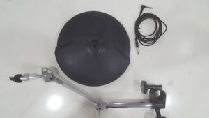 Roland CY-8 cymbal with boom stand V-drums