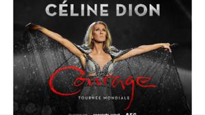 2 Billets pour le spectacle de Céline Dion le samedi 5 octobre