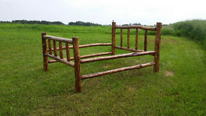 Hand crafted pine log bed *** REDUCED ***