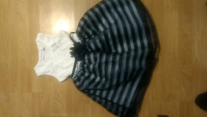 New with tags Beautiful Children's Place navy and white dress