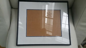 Professionally Mounted Black Steel Frame with Matting