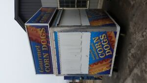 completly renovated corn dog food stand 8x10