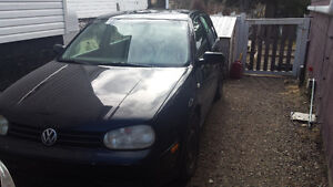 2003 Volkswagen Golf Hatchback needs work.
