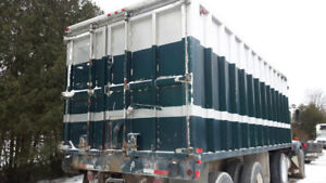 23' Aluminum Feed Box with augers nice cond w/or w/out truck