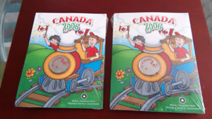 Canada 2006 Coloured Quarter 25 Cent Coin  Crayola Pack  Mint Se