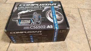 Compustar car alarm remote start with one 2-way remote only
