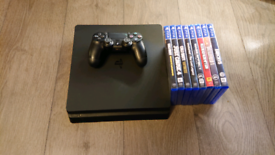 PS4 Slim 500GB Plus 8 Games