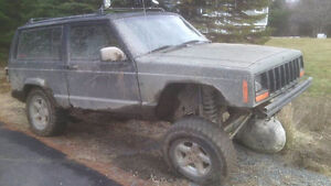 1998 jeep XJ lifted 5 speed 2 door. trade for a truck