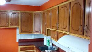 restauration armoires de cuisine et salle de bain bois  mélamine