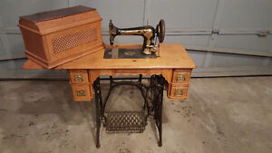 Singer Sewing Machine and Table - Antique c.1895