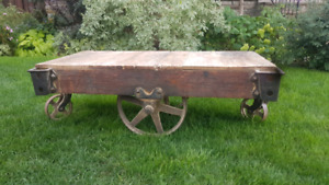 antique rail trolly coffee tables for sale