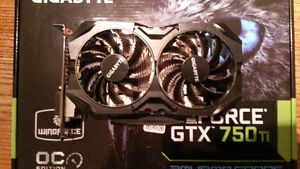 New in box Gigabyte Windforce Gtx 750ti 2GB GDDR5 Graphics card