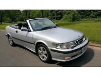 SAB 9-3 2.0 TURBO AUTO SE CONVERTIBLE, FULLY SERVICED, HEATED LEATHER