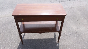 Antique dresser, table with drawer