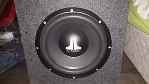 """12"""" JL Audio sub with JL Audio amp"""