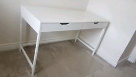 Desk with soft close drawers and cable storage