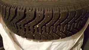 Goodyear Nordic tires M+S P195 70R14 steel rims