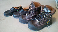 Womens size 6, Mens size 4 wook boots and work shoes