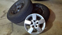 All season tires and rims 215/70 R16