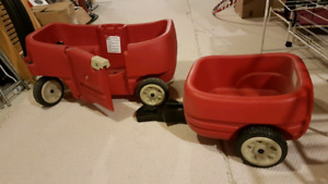 Little tykes Step 2 wagon with caboose