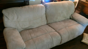 Set of two Berkline micro swede couches