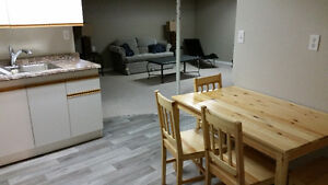 Basement Suite-1 bedroom, partially furnished