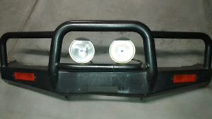 Pajero 95-99 TJM alloy winch bull bar