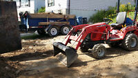 Excavating, backhoe, landscaping, mini excavator available.