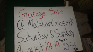 Huge toy garage sale this saturday and Sunday August 18 & 19.