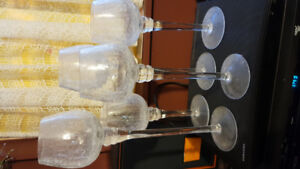French Crystal Candle Light/ Long stem holders- 5
