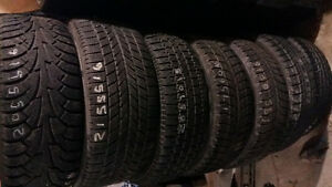 "WINTER TIRES SINGLES and PAIRS 15-""16""-17""-18""-19""ETC."