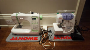 Janome Sewing Machine and Serger (Can Sell Individually)