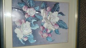 VINTAGE BEAUTIFUL 3D HAND CAST PAPER ART FLORAL SHADOW BOX Kitchener / Waterloo Kitchener Area image 10