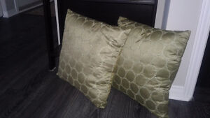 2 decorative cushions
