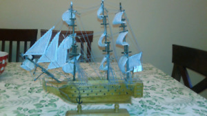 WOODEN TALL SHIP MODEL