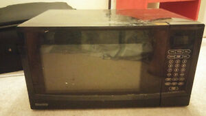 A Black Danby Microwave Oven