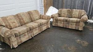 matching couch and loveseat. delivery is extra